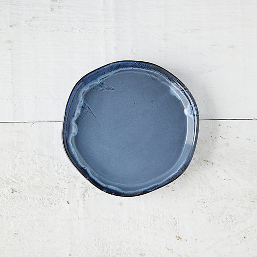 View larger image of Blue Drip Ceramic Plant Tray, Small