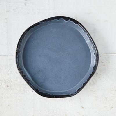 Blue Drip Ceramic Plant Tray, Medium