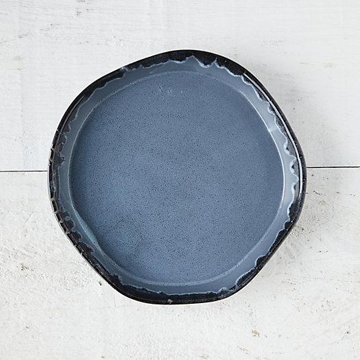 View larger image of Blue Drip Ceramic Plant Tray, Medium