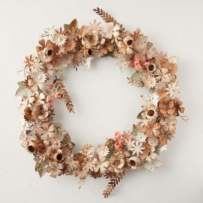 Iron, Glass + Velvet Floral Wreath