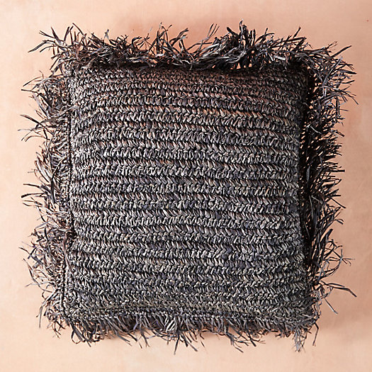 View larger image of Fringed Raffia Pillow