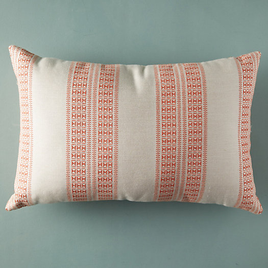 View larger image of Double Stripe Coral Outdoor Pillow
