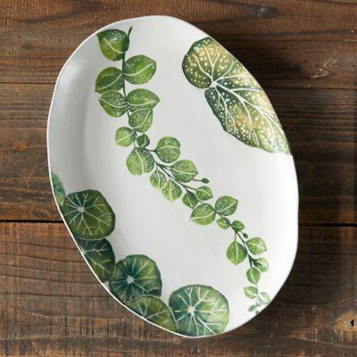 Green Leaves Serving Platter