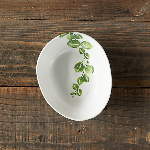 View larger image of Green Leaves Serving Bowl