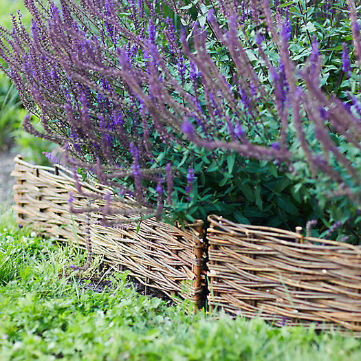 View larger image of Woven Willow Border Fence, Set of 4