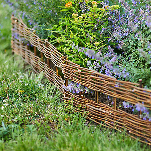 View larger image of Open Weave Willow Border Fence, Set of 4