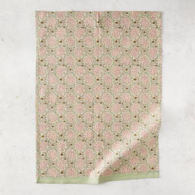 Pink Ivy Cotton Dish Towel