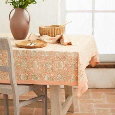 Paisley Melon Cotton Tablecloth