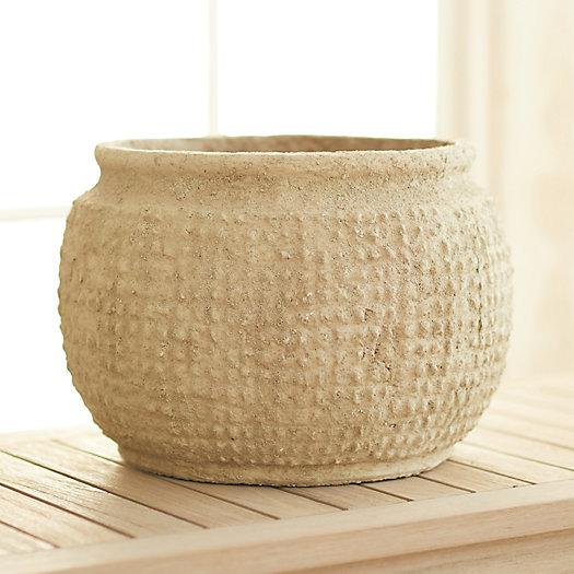 "View larger image of Textured Grid Fiber Pot, 15"""