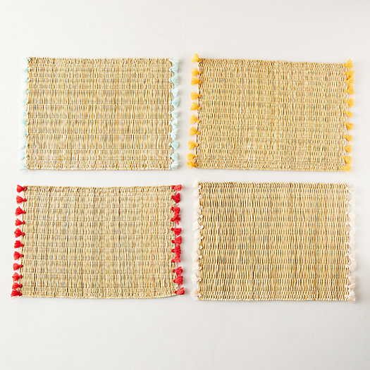 View larger image of Tassel Raffia Placemats, Set of 4