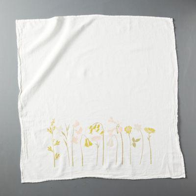 Gratitude Flowers Dish Towel