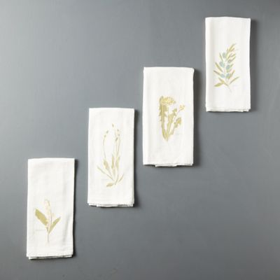 Language of Flowers Napkins, Set of 4