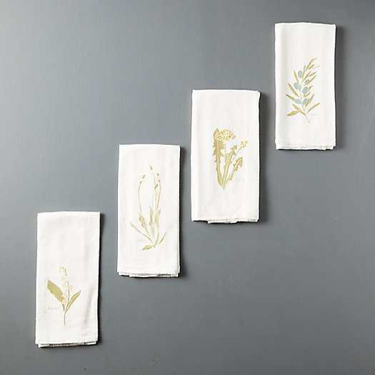 View larger image of Language of Flowers Napkins, Set of 4