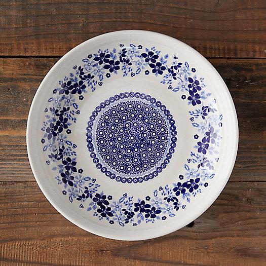 View larger image of Blue Poppy Edge Ceramic Serving Bowl