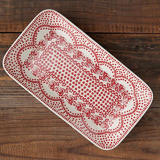 View larger image of Carmine Dots Ceramic Platter