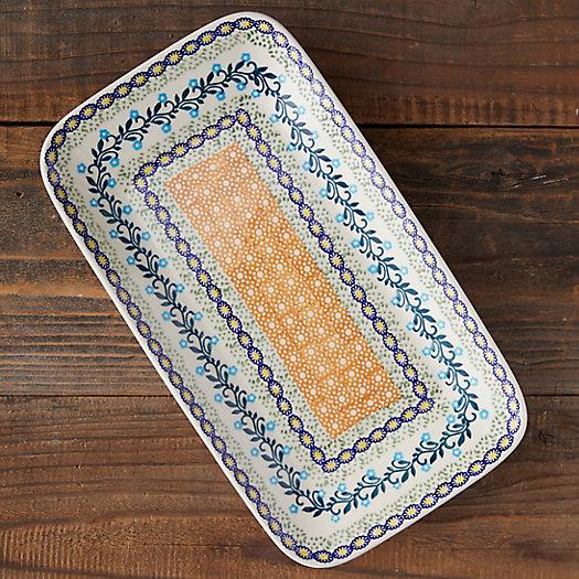 View larger image of Orange + Blue Florals Ceramic Platter