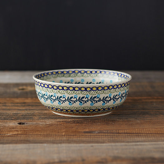 View larger image of Orange + Blue Florals Ceramic Bowl