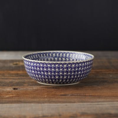 Blue Geo Ceramic Bowl