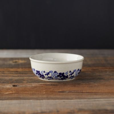 Sky Blue Poppy Ceramic Bowl