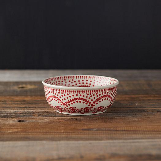 View larger image of Carmine Flowers Ceramic Bowl