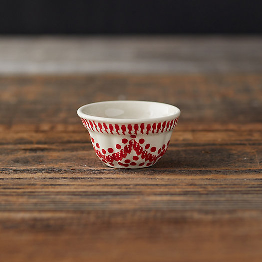 View larger image of Carmine Dots Ceramic Pinch Bowl