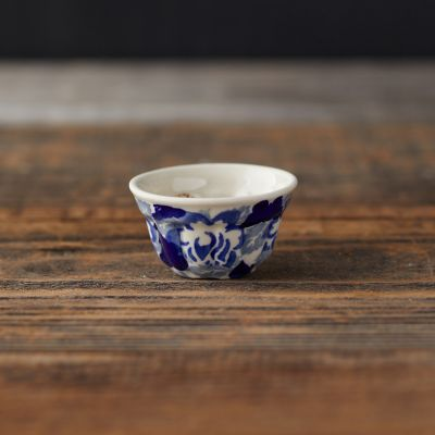 Abstract Blooms Ceramic Pinch Bowl