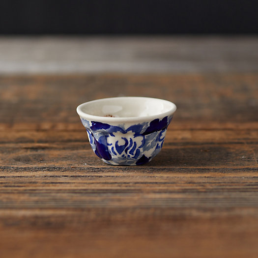 View larger image of Abstract Blooms Ceramic Pinch Bowl