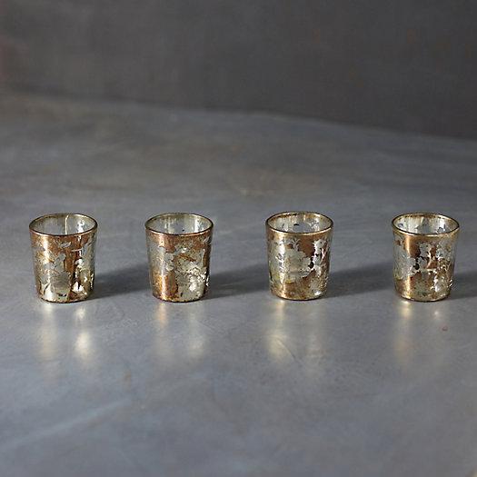 View larger image of Marbled Gold Foil Tea Light Holders, Set of 4
