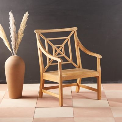 Fretwork Teak Garden Chair