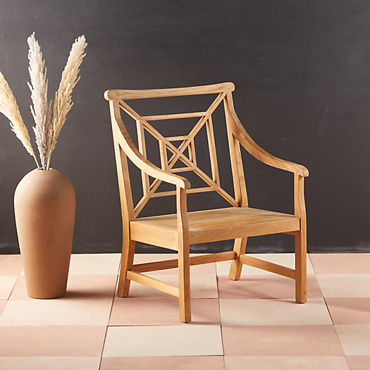 View larger image of Fretwork Teak Garden Chair
