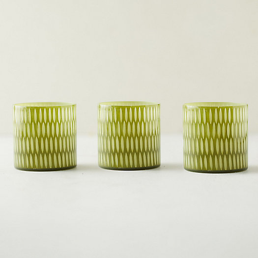 View larger image of Drop Glass Votives, Set of 3