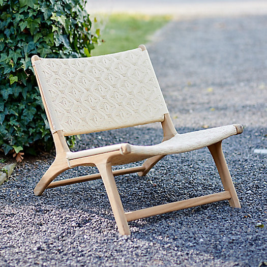 View larger image of Havana Wicker + Teak Armless Chair, Neutral Diamond