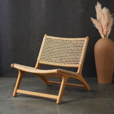 Havana Open Weave Armless Chair