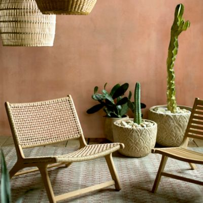 Havana Open Weave Armless Chair