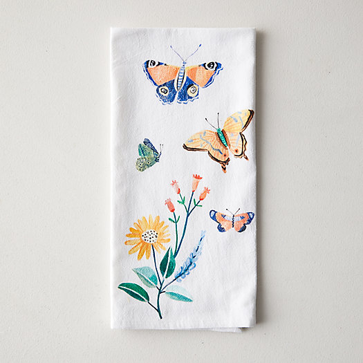 View larger image of Butterflies + Blooms Dish Towel