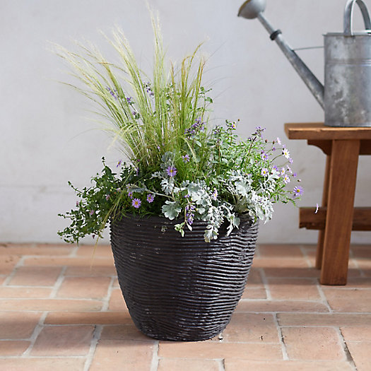 View larger image of Textured Fiber Cement Planter