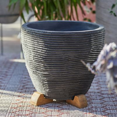 Textured Fiber Cement Planter