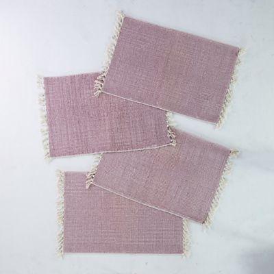 Fringe Cotton Placemats, Set of 4