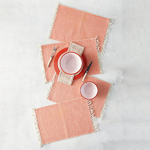 View larger image of Fringe Cotton Placemats, Set of 4
