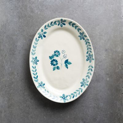 Blue Daisy Serving Platter, Large
