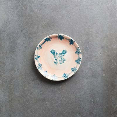 Pink Wash Blue Daisy Side Plate