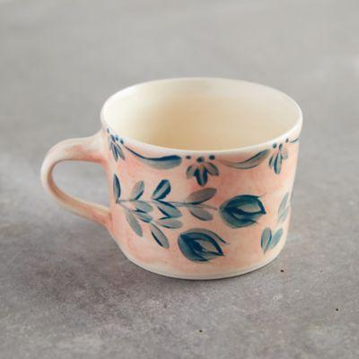 Pink Wash Blue Daisy Mug