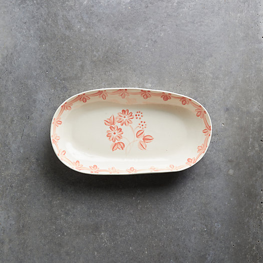 View larger image of Pink Daisy Oval Serving Dish