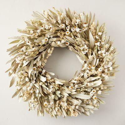 Bleached Daisy Wreath