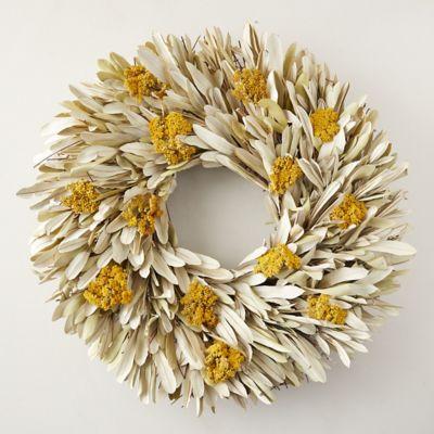 Bleached Integrifolia + Yarrow Wreath
