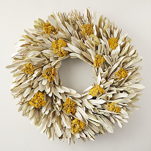 View larger image of Bleached Integrifolia + Yarrow Wreath