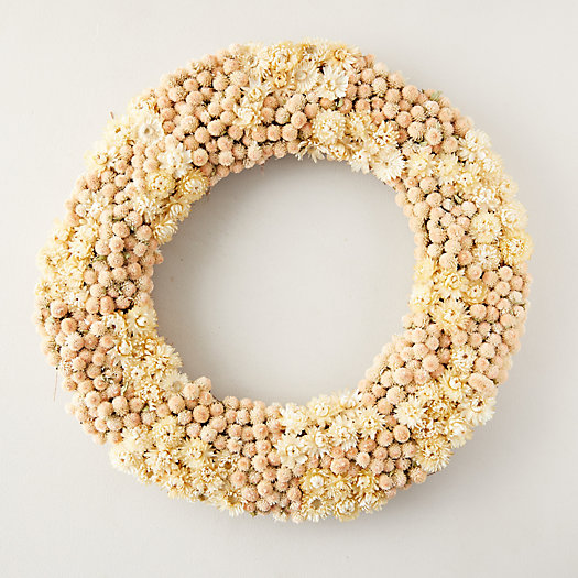 View larger image of Preserved Strawflower + Amaranth Wreath