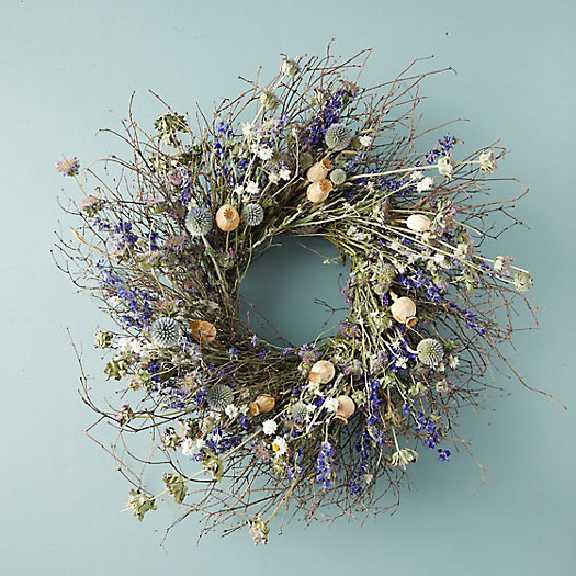 View larger image of Preserved Blue Poppy Wreath