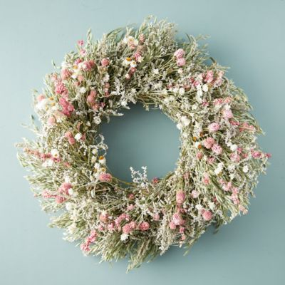 Preserved Pink Posey Wreath
