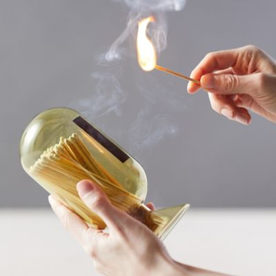 Glass Cloche with Matches